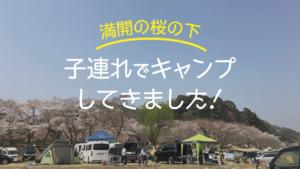 温泉も近く、桜がキレイな笠置キャンプ場!薪は持参or購入?